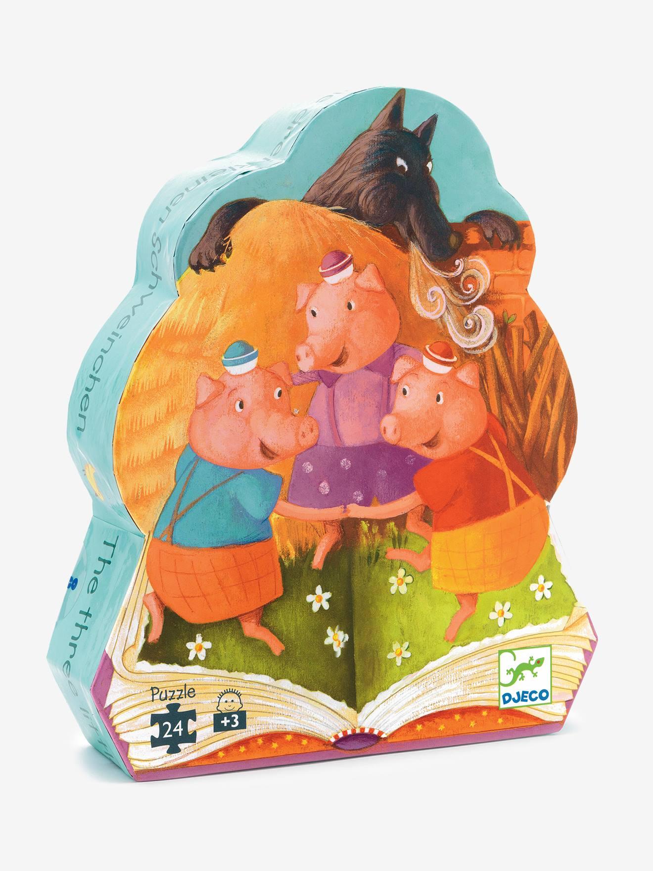 Puzzle Les 3 petits cochons 24 pièces DJECO multicolore
