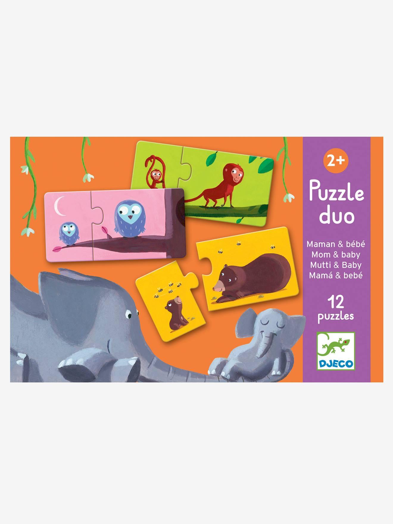 Puzzle duo Maman et Bébé DJECO multicolore