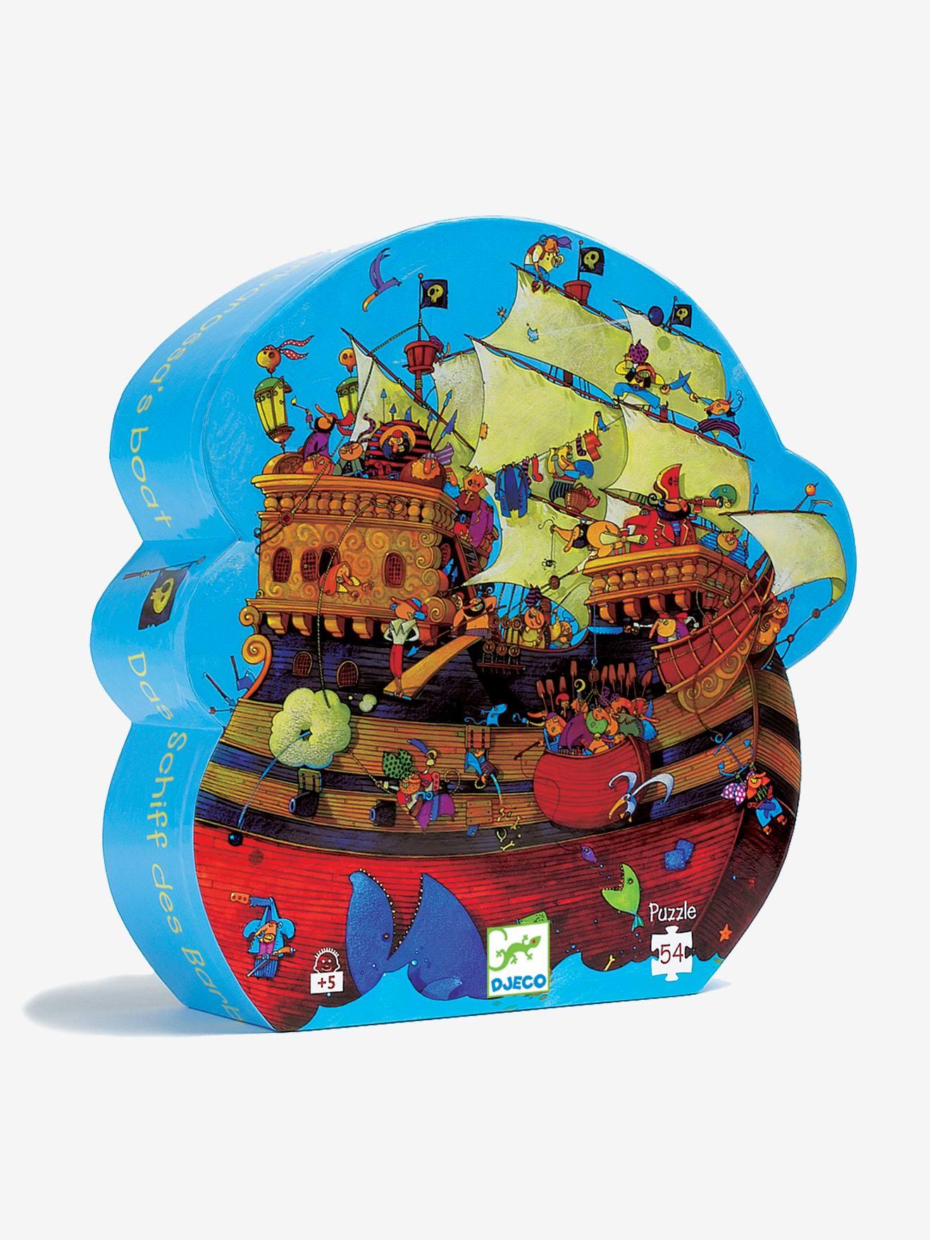 Puzzle Le bateau de Barberousse 54 pièces DJECO multicolore