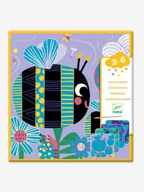 Cartes à gratter «Toutes petites bêtes» DJECO multicolore