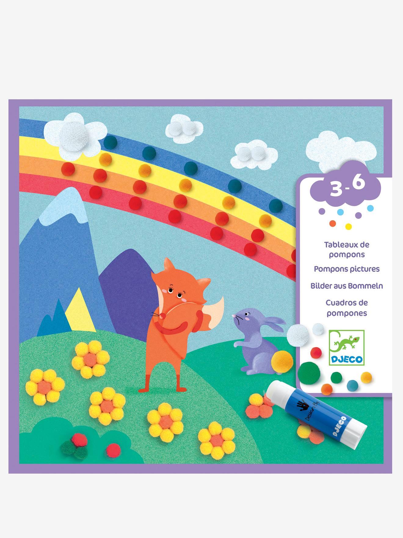 Collages de pompons «En douceur» DJECO multicolore