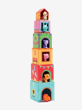 Cubes imagiers Topanifarm DJECO multicolore