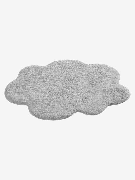 tapis nuage bleugris clairrose ple 6 vertbaudet enfant - Tapis Gris