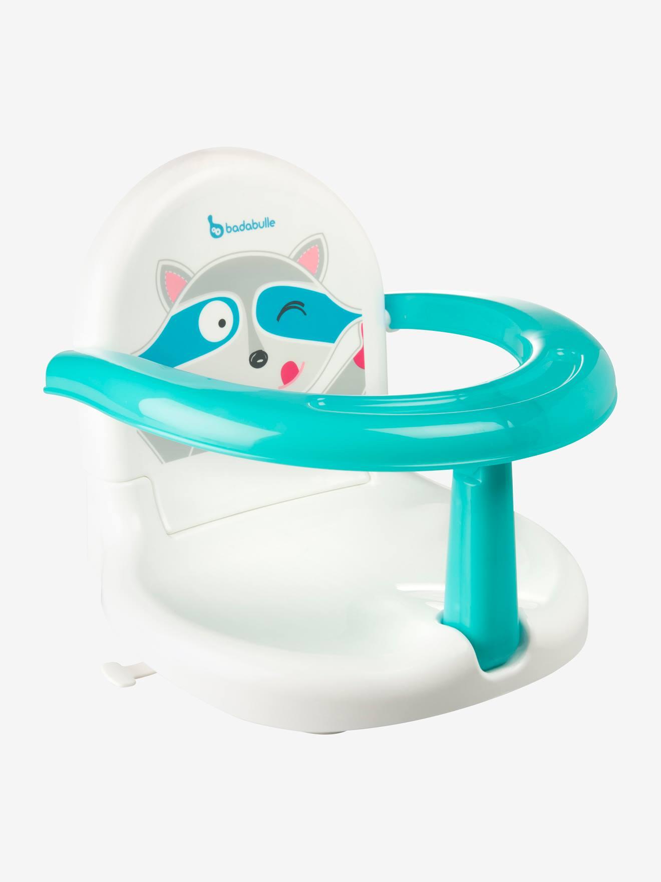 Fauteuil de bain pliable BADABULLE Raton blanc/bleu