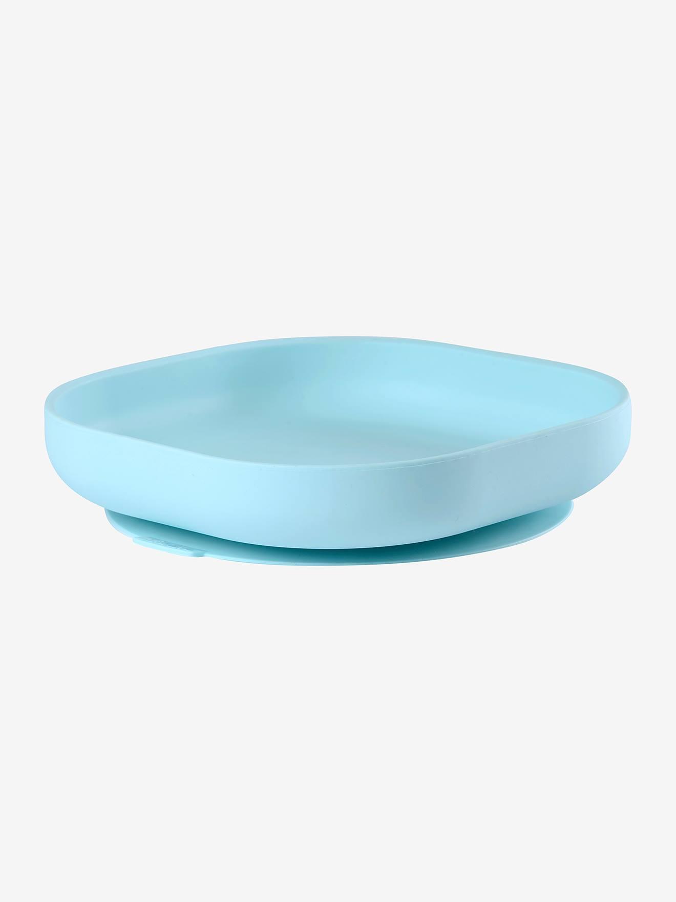 Assiette silicone avec ventouse BEABA bleu
