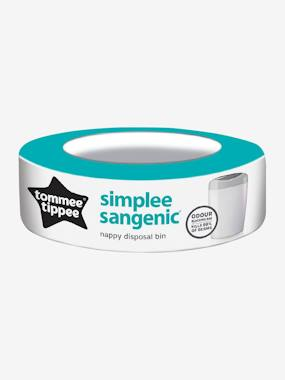 Recharge pour poubelle à couches Simplee Tommee tippee SANGENIC blanc