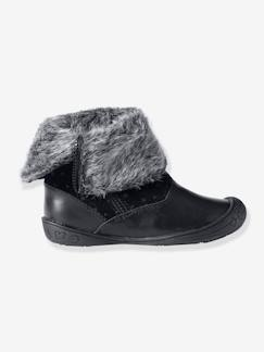Hiver-Chaussures-Mi-bottes cuir fille
