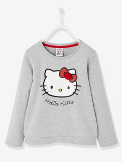 Fille-Pull, gilet, sweat-Sweat Hello Kitty® imprimé base fantaisie