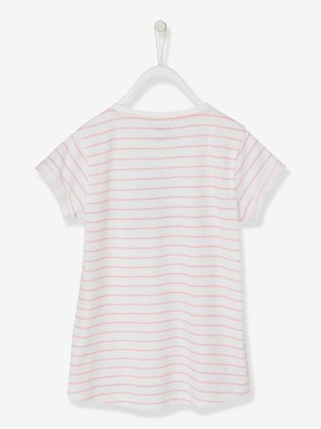 T-shirt rayé Hello Kitty® manches courtes RAYE ROSE 2 - vertbaudet enfant