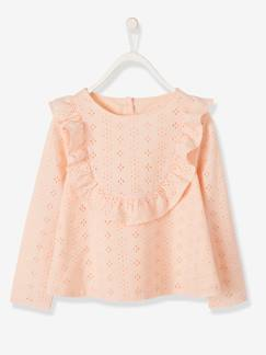 Fille-Blouse fille en broderies anglaises