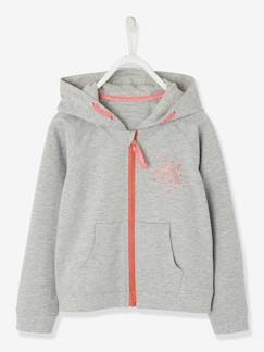 c8b0d4c291263 Fille-Vêtements de sport-Sweat sport fille zippé motif étoile à paillettes