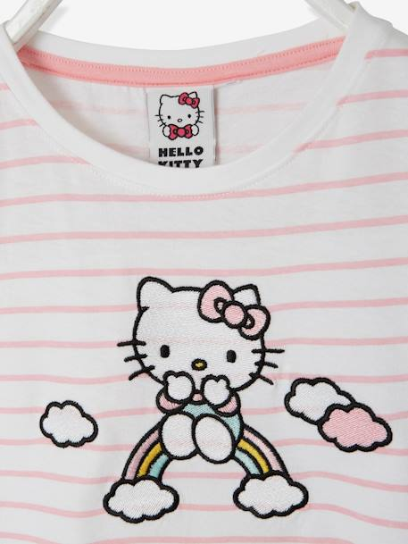 T-shirt rayé Hello Kitty® manches courtes RAYE ROSE 3 - vertbaudet enfant