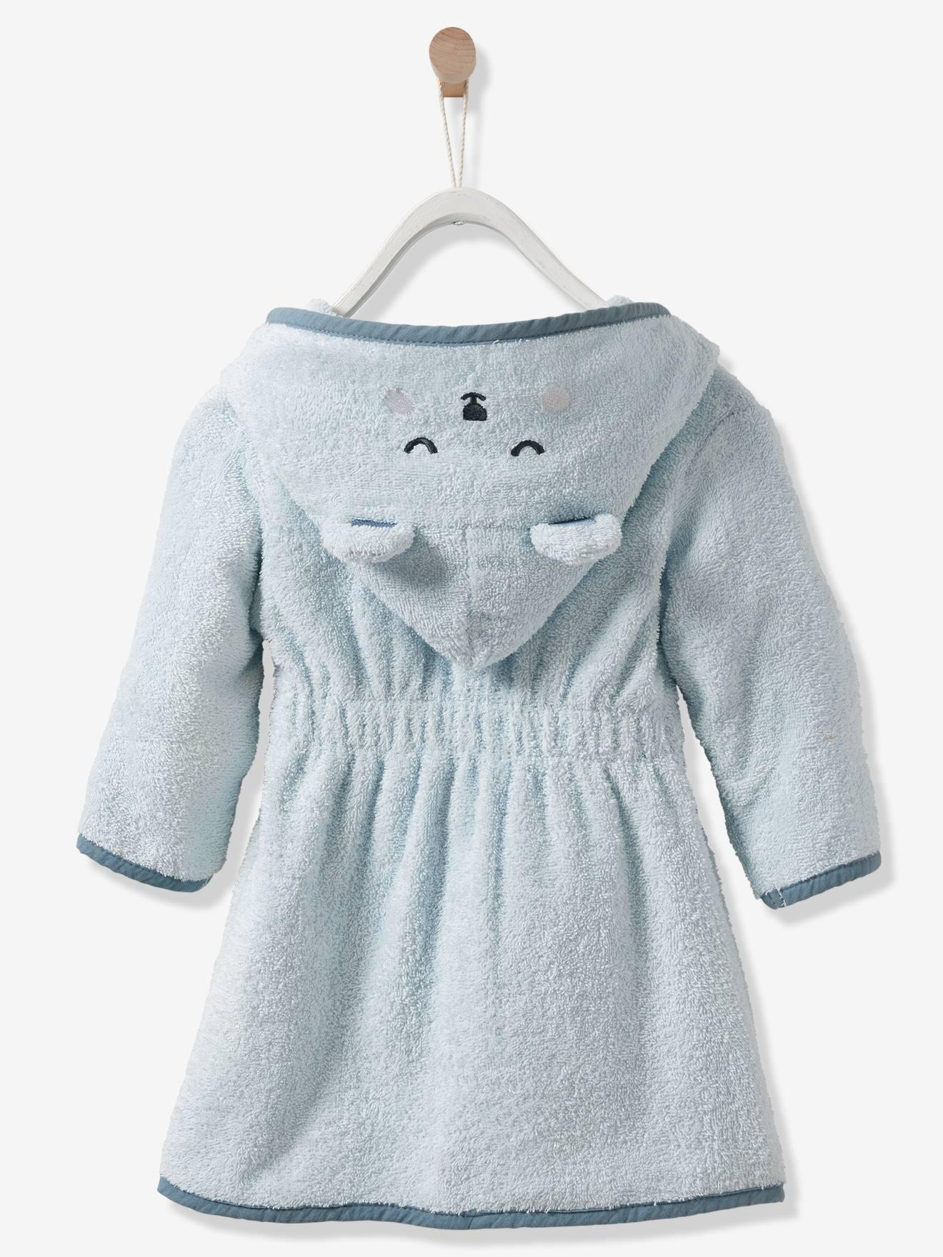 5683ca90ff848 Peignoir bébé Ours personnalisable bleu - Vertbaudet