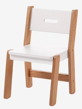 Chaise maternelle, assise 30 cm LIGNE ARCHITEKT blanc/bois vertbaudet