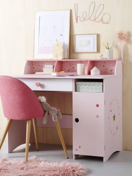 bureau primaire ligne feerie rose vertbaudet. Black Bedroom Furniture Sets. Home Design Ideas