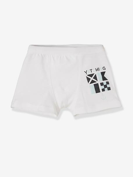 Lot de 4 boxers stretch garçon Navy Lot bleu 3 - vertbaudet enfant