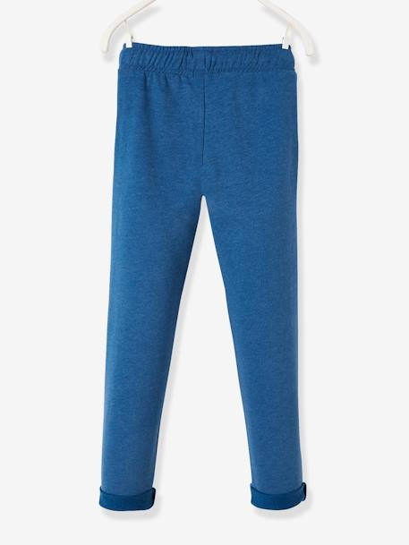 14cb96c793ce6 Pantalon garçon en molleton Bleu jean+BLEU PETROLE CHINÉ+Gris chiné+MARINE  CHINÉ