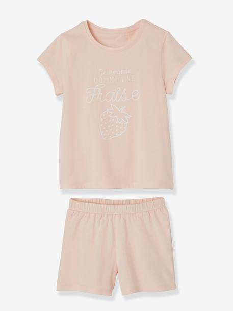 Lot de 2 pyjashorts fille combinables LOT ROSE PALE 3 - vertbaudet enfant