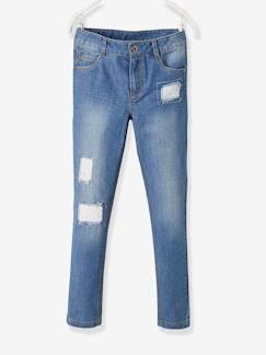Fille-Pantalon-Jean droit fille Morphologik tour de hanches MEDIUM détails fantaisie