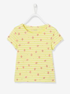 Fille-T-shirt rayé fille motifs fruits pailletés