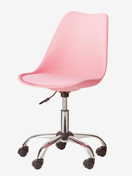 Chaise De Bureau Primaire A Roulettes GRIS ROSE 4