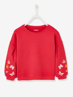 Collection maternelle-Fille-Sweat fille manches brodées
