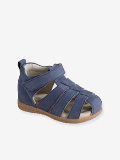 53af1d5f09189 Chaussures-Chaussures bébé 16-26-Sandales cuir bébé garçon premiers pas