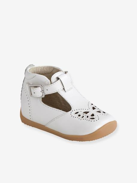 design de qualité e489b a2b62 Sandales cuir bébé fille premiers pas blanc perle - Vertbaudet