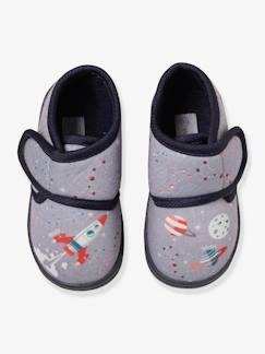 5f9ae7058e737 Chaussures-Chaussures bébé 16-26-Chaussons-Chaussons scratchés bébé garçon