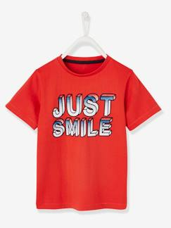 "Garçon-T-shirt garçon inscription ""just smile"""