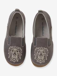 111f85789872e Chaussures-Chaussures garçon 23-38-Chaussons-Chaussons élastiqués en cuir  garçon