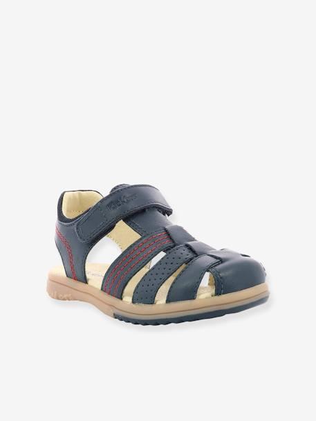 acheter pas cher caractéristiques exceptionnelles courir chaussures Sandales en cuir garçon Platinium KICKERS® marine - Kickers