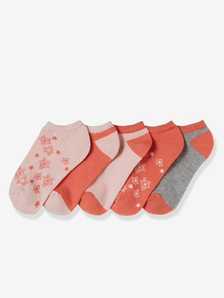 Lot de 5 paires de socquettes fille Lot rose corail 1 - vertbaudet enfant