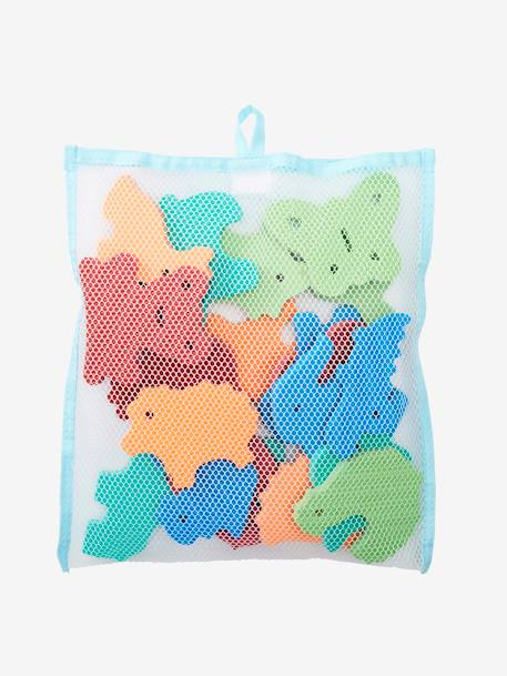 Stickers de bain en mousse + filet de rangement MULTICOLORE 2 - vertbaudet enfant