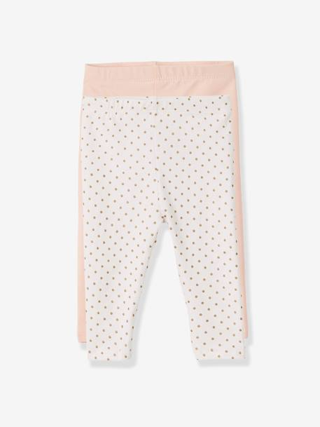 Lot de 2 leggings longs bébé fille LOT ANTHRACITE + POIS+LOT FRAMBOISE + POIS+LOT IVOIRE+Lot marine grisé+Lot noir+LOT NOIR+POIS+Lot rose+LOT ROSE PALE 26 - vertbaudet enfant