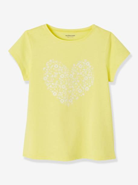 Lot de 3 T-shirts fille manches courtes JAUNE PALE+LOT BLEU PALE+LOT ROSE PALE 4 - vertbaudet enfant