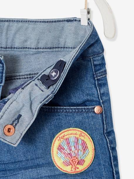 Short en jean fille avec badges sequins STONE 3 - vertbaudet enfant