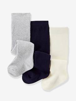 Bébé-Chaussettes, Collants-Lot de 3 collants bébé maille