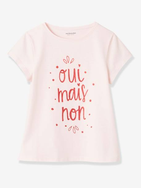 Lot de 3 T-shirts fille manches courtes JAUNE PALE+LOT BLEU PALE+LOT ROSE PALE 22 - vertbaudet enfant