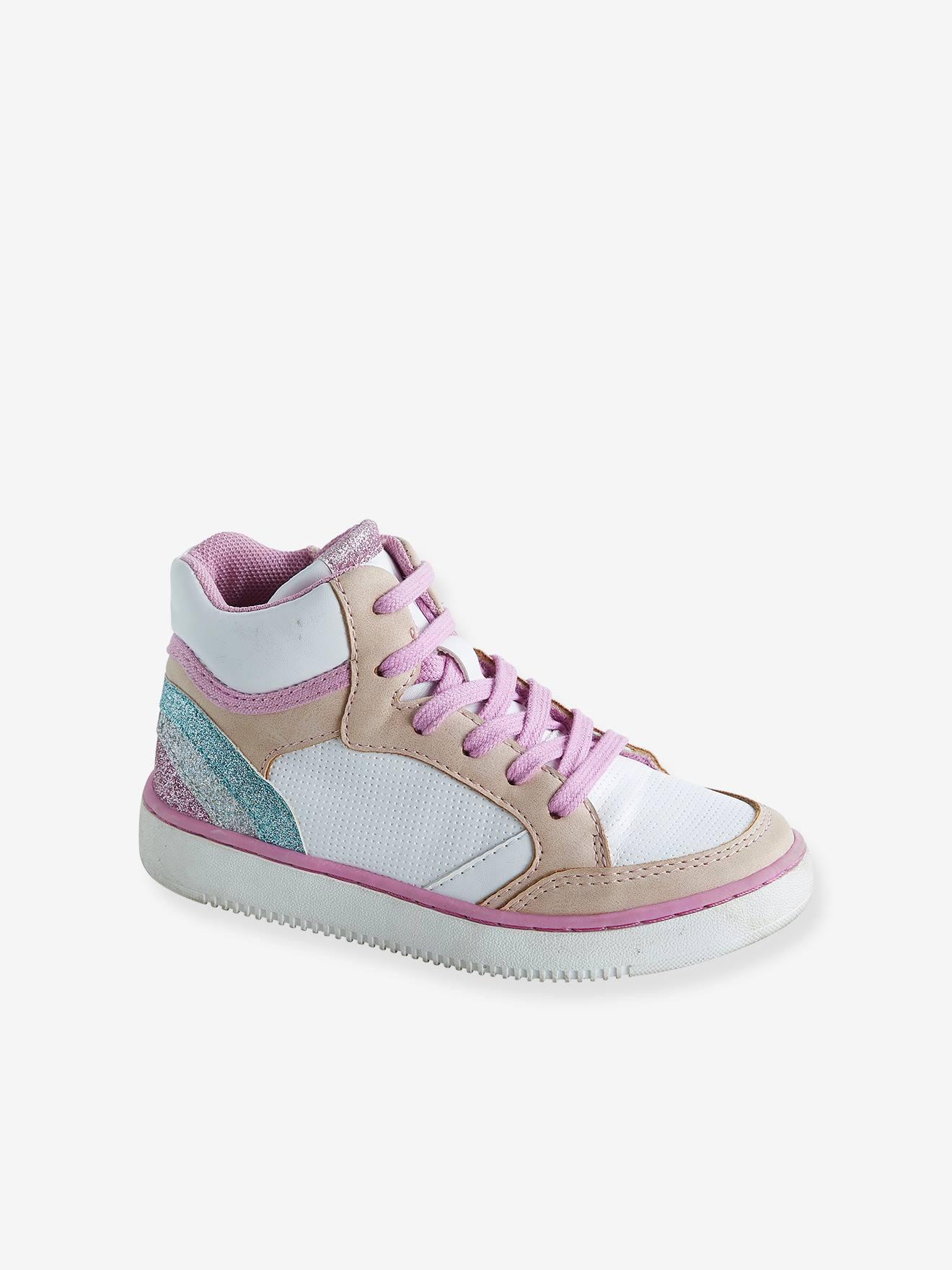 Basket enfant fille Zip Chaussures de sport pour filles en