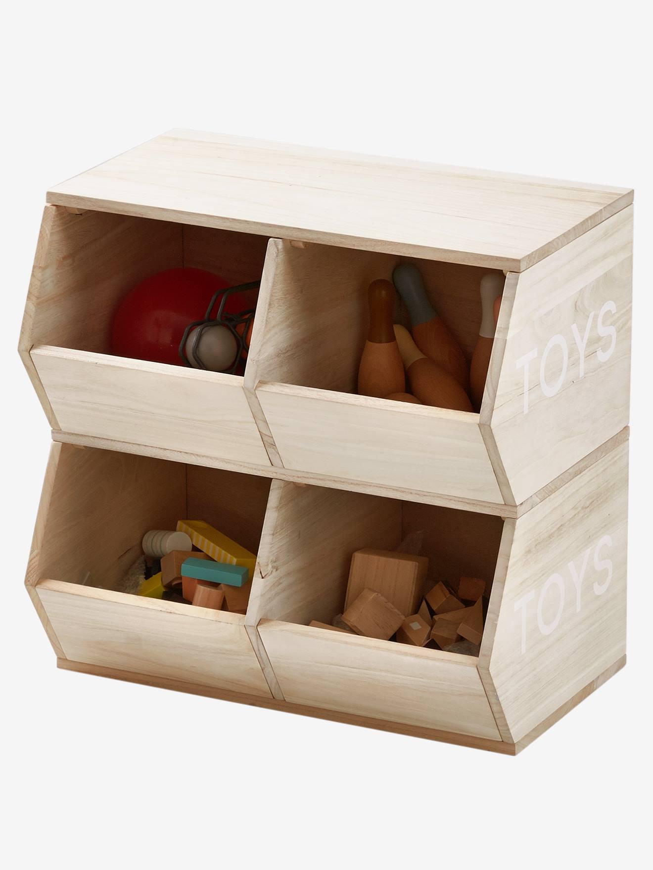 caisse en bois rangement de jouet