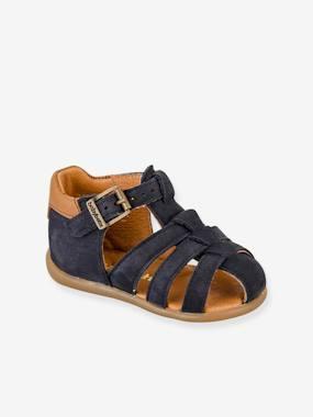 Sandales cuir bébé garçon Gimmy Babybotte® marine
