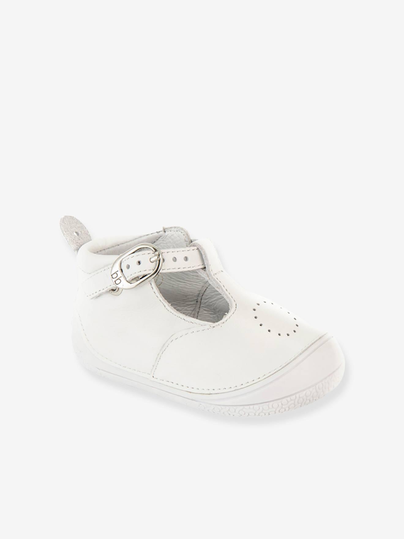 1f77b532c594a Chaussures-Chaussures bébé 16-26-Naissance-Bottillons salomés cuir bébé  fille Zia