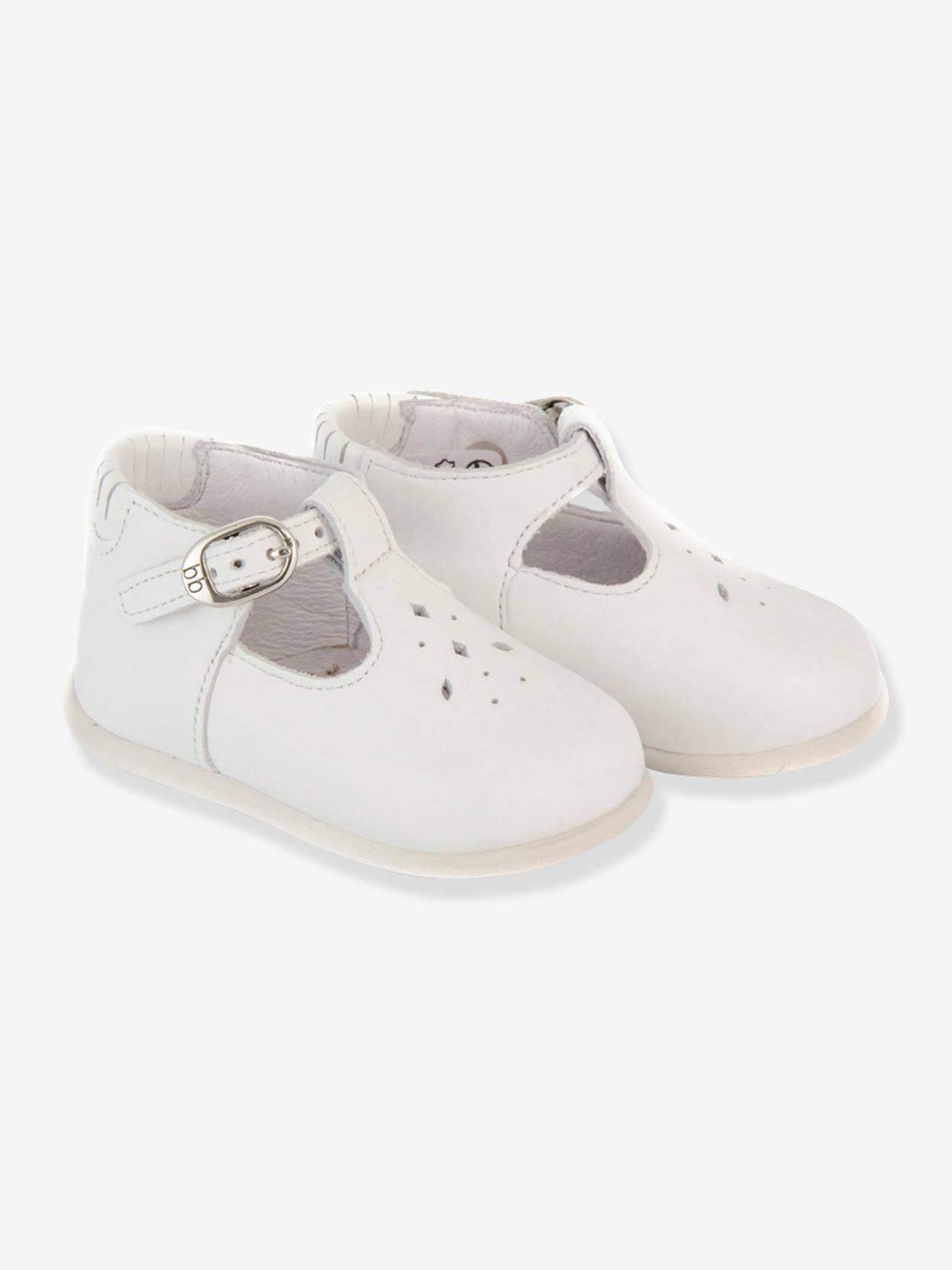 2d58fe181bbb9 Sandales salomés cuir bébé fille Paris Babybotte® blanc - Babybotte
