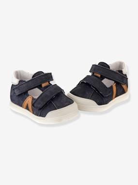Sandales salomés cuir bébé garçon Poto Babybotte® marine