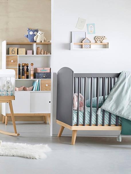 Lit bébé à barreaux LIGNE CONFETTI blanc - Vertbaudet