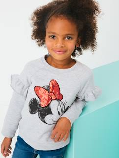 Fille-Pull, gilet, sweat-Sweat-Sweat Minnie® manches longues volantées