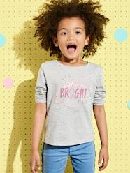 T-shirt fille à message irisé  [numero-image] - vertbaudet enfant