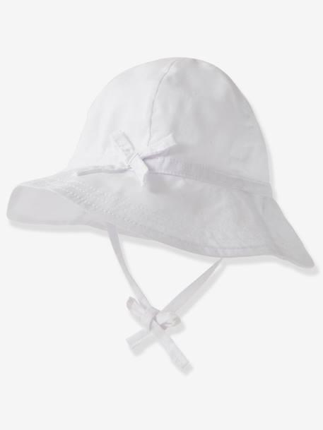 pas mal 21d8c 45e4f Chapeau de soleil bébé blanc - Vertbaudet