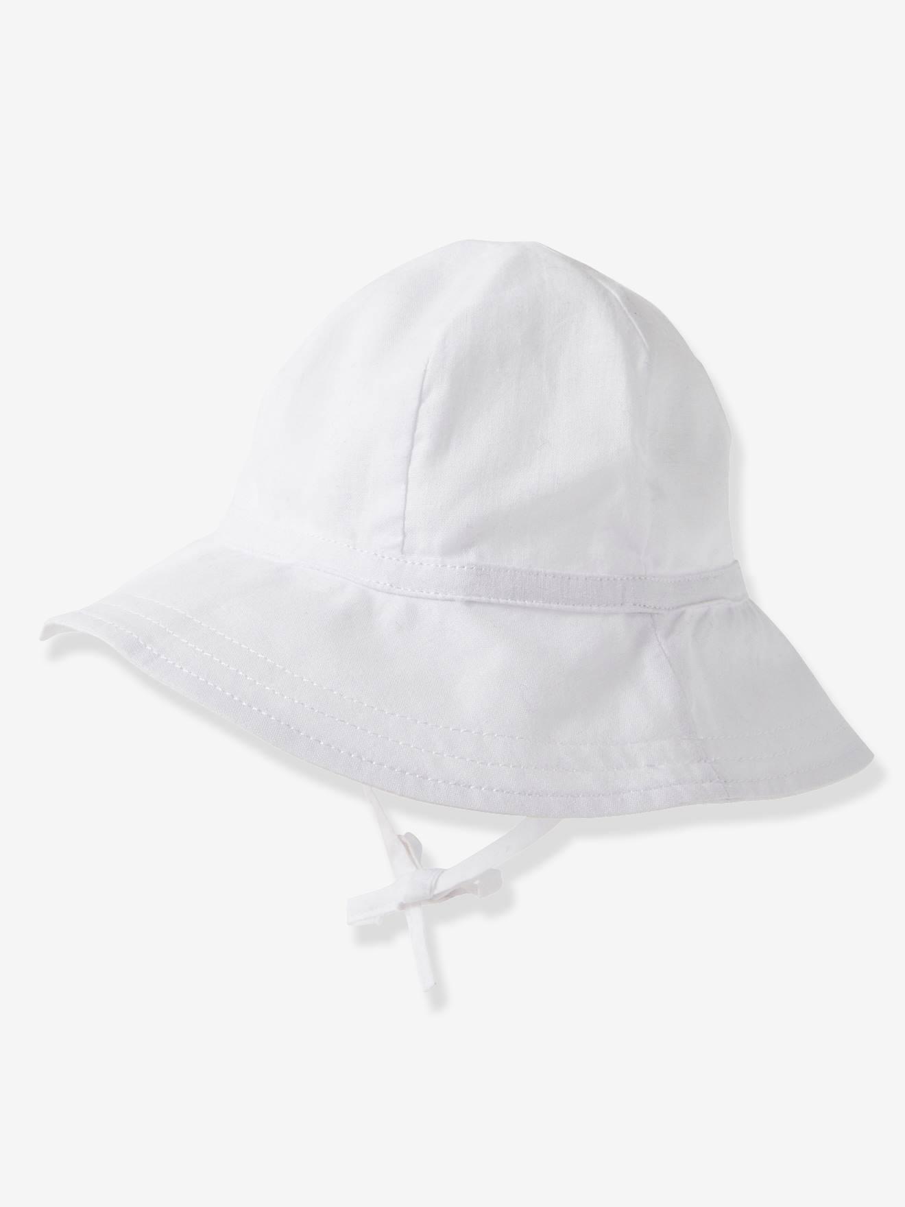 ANIMQUE Fille Chapeau de Soleil Grand Bord Anti UV B/éb/é Enfants Coton Chapeau d/ét/é Respirant Mignon Chapeau de P/êcheur Plage Vacances 0-8ans Tour de t/ête 44//54cm